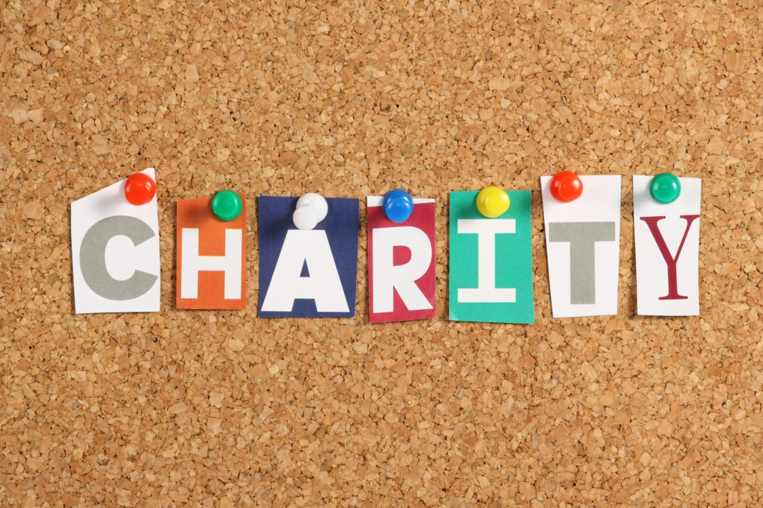 charity coloured paper